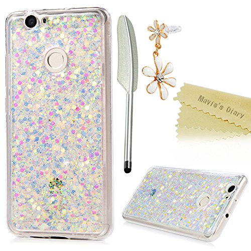 Preisvergleich Produktbild Huawei Nova TPU Silikon Hülle Glitzern Handyhülle Mavis's Diary Schale Etui Bumper Protective Case Cover Rück mit Mehrfarbige Beschichtungen