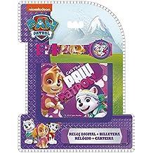 Paw Patrol - Set con reloj de pulsera digital y billetera, unica (Kids Euroswan PW16272)