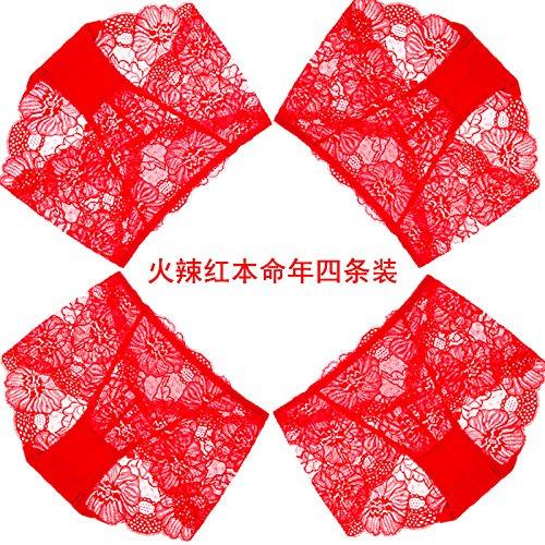 Artikel RRRRZ*4 große rote Box in diesem Jahr im Auftrag der weiblichen Unterwäsche Spitzenstoff in sexy Unterwäsche, M, Taille 3 Hot Red 4 (Tartan Korsett)