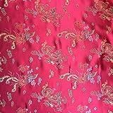 Rot 114,3cm breit geflochten Chinesischer Drache Brokat