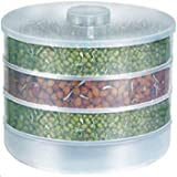 Piesome Plastic Sprout Maker with 4 Container - 500ml, White