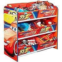 Disney Cars - Regal zur Spielzeugaufbewahrung mit sechs Kisten für Kinder preisvergleich bei kinderzimmerdekopreise.eu