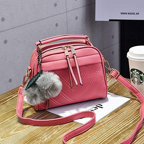 Xmy borsa a tracolla piccola borsa a tracolla piccola borsa a tracolla portatile femminile piccola, polvere di gomma