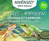 Nourriture pour Reptiles, Tortue, salamandres, Grenouilles granules 100% Insectes - 110 grammes