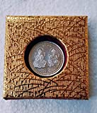 Metal Coin of Laxmi Ganesh Ji 10 Grams with Free Coin Box for Giftiing All Occassions & Pooja