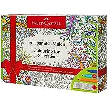 Faber-Castell 201432 - Caja de 60 rotuladores conectores y libro para colorear con 50 ilustraciones, multicolor