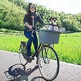 Ferplast 73021299W1 Atlas Bike 20 Rapid Hunde Fahrradtransportbox, 47 x 35.5 x H 34.5 cm, grau - 3
