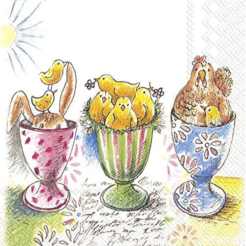 Pasqua Eggcups 3PLY tovaglioli 20PK, 25 x 25 cm