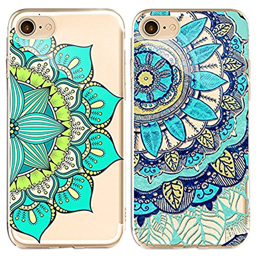 Doppel-Pack (Packung mit 2) iPhone 6S Hülle, iPhone 6 6S Silikon Hülle [Kratzfeste, Scratch-Resistant], Sunroyal® iPhone 6 6S (4,7 Zoll) Hülle TPU Case Schutzhülle Silikon Crystal Kirstall Clear Case Pattern 07