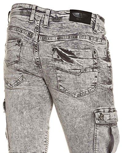 Gov Denim - Jeans gris slim homme délavage bleached Gris