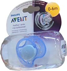 Philips Avent Soother Fast Flow, 0-6 Months (Colour May Vary)