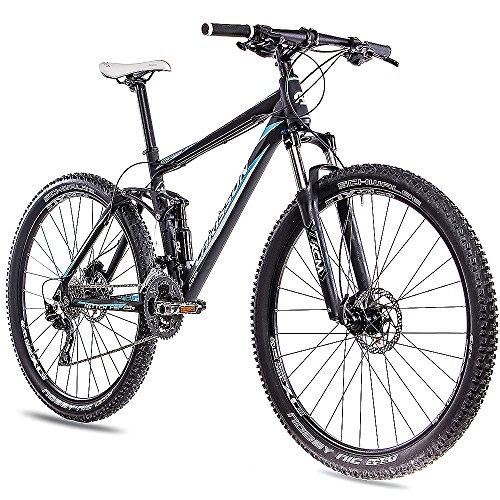 "CHRISSON 29\"" Zoll MTB Mountainbike Fahrrad Hitter FSF ALU 4-LINK mit 30G DEORE schwarz matt 2401"