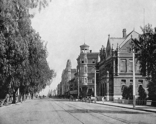 The Poster Corp Los Angeles: Main Street. /Nmain Street In Los Angeles California. Photograph C1890. Kunstdruck (45,72 x 60,96 cm) -