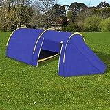 Anself Campingzelt Familienzelt Gruppenzelt Zelt 4 Personen Wasserdicht 3 Farbe Optional