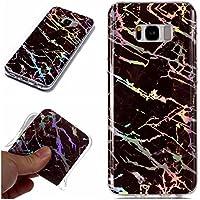 BONROY Samsung Galaxy S8 Marmor Hülle, Handyhülle Silikon Case Weich TPU Huelle mit für Samsung Galaxy S8-Laser Marmor - braun