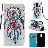 Cozy Hut LG Stylo 4 / LG Q Stylus Hülle [Premium Leder] [Standfunktion] [Kartenfach] [Magnetverschluss] Schlanke Leder Brieftasche für LG Stylo 4 / LG Q Stylus - Dual Windspiel