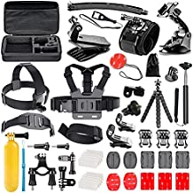 Followsun 52-in-1 Kit de Accesorios Acción Cámara Deportiva para GoPro Hero Session/5 Hero 1 2 3 3+ 4 5 SJ4000 SJ7000 DBPOWER AKASO VicTsing APEMAN WiMiUS Rollei QUMOX Lightdow Campark y Sony Sports DV