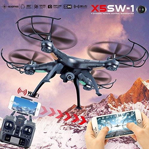 Hanbaili 2,4G WiFi Fernbedienung Quadcopter Drohnen mit HD Kamera Live Video Headless Modus 3D Flip Unterstützung VR Brille