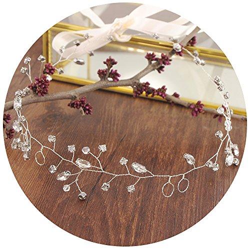 TOPQUEEN Braut schmuck Kristall Pearl Vine Haarbänder Hochzeit Haar ZubehörHaarteil Kamm Haarband - Braut Kamm Kopf