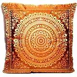 Indische Seide Deko Kissenbezüge 40 cm x 40 cm, Extravaganten Design für Sofa & Bett Dekokissen, Kissenhülle aus Indien (Angebot gültig nur für ein Woche)