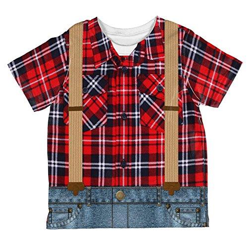 Kostüm Halloween Holzfäller über Kleinkind T Shirt Multi 2 t