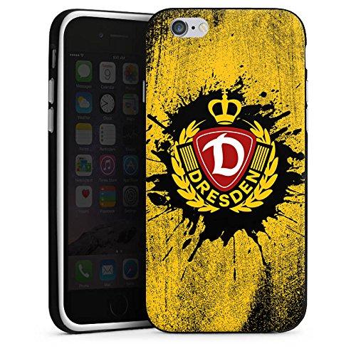Apple iPhone 6 Plus Hülle Case Handyhülle SG Dynamo Dresden Fanartikel Fußball Silikon Case schwarz / weiß