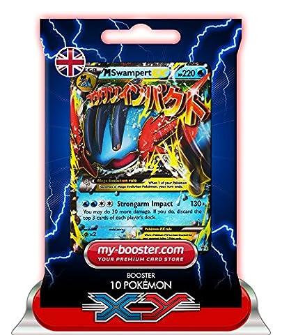 MEGA M SWAMPERT EX (Laggron) XY87 220HP XY08 - Booster de 10 cartes Pokemon anglaises my-booster