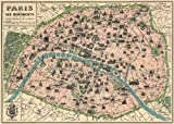 Decorative Wrap 20X28 Paris Map by Cavallini