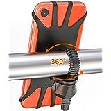 Cocoda Porta Cellulare Bici, Rotabile a 360° Regolabile Universale Silicone Porta Telefono Moto Bici Compatibile con iPhone 1