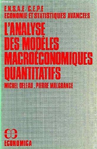L'Analyse des modèles macroéconomiques quantitatifs