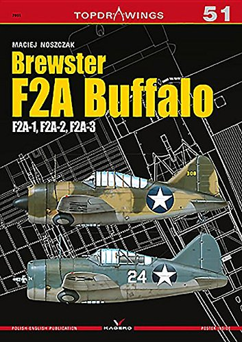Brewster F2a Buffalo.  F2a-1, F2a-2, F2a-3 (Topdrawings) por Maciej Noszczak