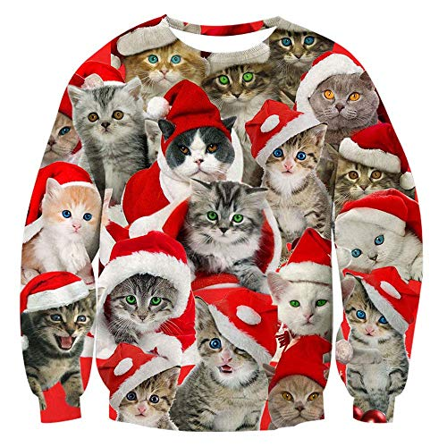 Bfustyle Unisex Herren Ladies 3D Weihnachtspullover Funny Ugly Christmas Sweater Pullover Sweatshirt Fleece Pl¨¹schfutter L