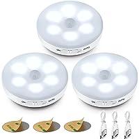 Veilleuse LED Automatique,Lampe A Detecteur de Mouvement Interieur,Lampes LED Sans Fil,3 Modes (Auto/On/Off) ,LED Lampe…
