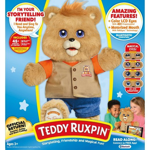 Teddy Ruxpin Interactive Bear With Bluetooth Connectivity Comes With Three Stories Included