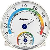 Digital Termómetro Higrómetro analogico termohigrómetro redondo interior