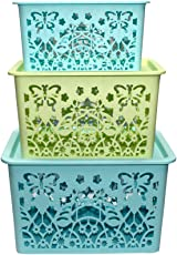 FWQPRA Laundry Basket / Basket with Lid / Basket for Clothes / Big Size Basket for Home Big (in cm) : 33 * 25 * 17.5 { LENGTH * BREADTH * HEIGHT } Medium (in cm) : 29 * 21.5 * 17 { LENGTH * BREADTH * HEIGHT } Small (in cm) : 25 * 17.5 * 14 { LENGTH * BREADTH * HEIGHT }