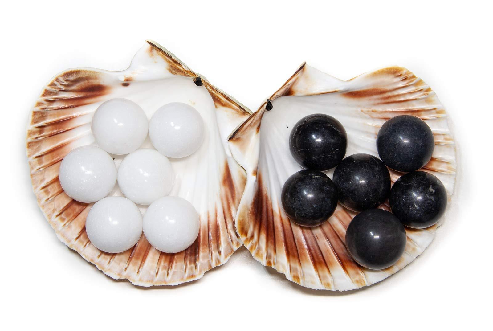 Yuchengstone-10er-Set-Marmorkugel-Marmorkgelchen-wei-oder-schwarz-Stilvolles-Wohnaccessoire-Dekolement-Marmor-Kugel-Bllchen-Blle-aus-Naturstein-Mae–30-mm-Gewicht-Pro-Stck-ca40g