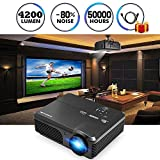 "CAIWEI Video Projector 1080p 4200 Lumen, 200"" Widescreen Review and Comparison"