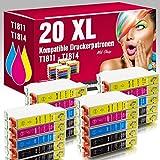 ms-point® 20 kompatible Druckerpatronen für Epson Expression Home XP-100 XP-102 XP-200 XP-202 XP-205 XP-210 XP-212 XP-215 XP-225 XP-30 XP-300 XP-302 XP-305 XP-310 XP-312 XP-313 XP-315 XP-320 XP-322 XP-325 XP-33 XP-400 XP-402 XP-405 XP-405WH XP-410 XP-412 XP-413 XP-415 XP-420 XP-422 XP-425 Patronen kompatibel zu T1811 T1812 T1813 T1814 18XL