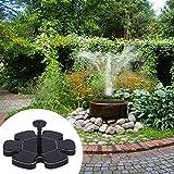 pompe de fontaine solaire pompe d'eau de jardin Pompe Micro Floating Fontaine Fontaine d'eau solaire Pompe Suspension Ext?rieure Fontaine solaire circulaire pour bain d'oiseau Jardin