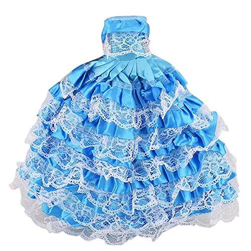 lzeug Satin Hochzeit Partei Kleider Outfits Puppenzubehör für Barbie Spielzeug Kinder Mädchen Geburtstag Geschenk E Stil (Schnelle Barbie Kostüm)