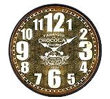 Sukima Decor Cioccolato Orologio, MDF, Marrone, 80x 4x 80cm