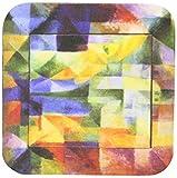 3dRose cst597382Delaunay Abstrakt Kubismus Malerei von 1912Soft Untersetzer, Set von 8