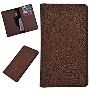 DCR Pu Leather case cover for Celkon Q519 (brown)