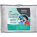 Home Collection Pack Couette Câline 1 Personne 140x200 cm avec 1 Oreiller 60x60 cm LKS25