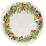 Best Grasslands Road Christmas Trees - Grasslands Road Christmas Pinewood Dishwear, Holly Accent Plate Review