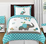 Best Sweet Jojo Designs Bed Skirts - Sweet Jojo Designs Turquoise Blue Gray and White Review