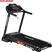 Sparnod Fitness STH-4000 (4.5 HP Peak) Automatic Treadmill (Free Installation Service) - Foldable Motorized Running Indoor T