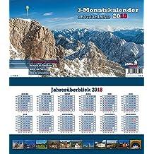 Deutschland 2018 3-Monatskalender: Praktischer Monatsplaner mit umfassendem deutschen Kalendarium