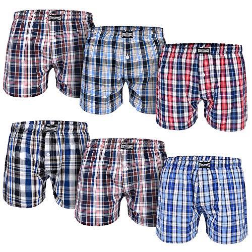 L&K Bóxer para Hombre Pack de 6, Estilo Americano en Diversos Colores con 95% de algodón 1406 4XL/5XL...